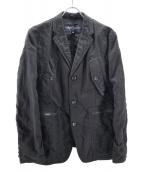 COMME des GARCONS HOMME(コムデギャルソンオム)の古着「ウールリネン縮絨3Bジャケット」|ブラック