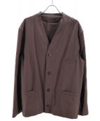 LEMAIRE(ルメール)の古着「ウールギャバジンVネックジャケット」|ブラウン