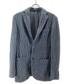L.B.M.1911(エルビーエム1911)の古着「コットンウールツイード2Bジャケット」|ブルー