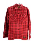 NEIGHBORHOOD(ネイバーフッド)の古着「B&Cチェックネルシャツ」|レッド×ブラック