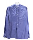 SCYEBASICS(サイベーシックス)の古着「バンドカラーシャツ」|ブルー