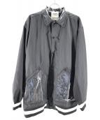 SWAGGER(スワッガ)の古着「バックロゴPVCコーチジャケット」|ブラック