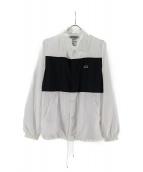 ANREALAGE(アンリアエイジ)の古着「コーチジャケット」|ホワイト