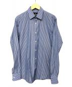 BOSS HUGO BOSS(ボスヒューゴボス)の古着「ストライプシャツ」|ブルー