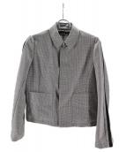 tricot COMME des GARCONS(トリコ コムデギャルソン)の古着「サイドラインチェックジャケット」|グレー