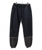 Casely-Hayford(ケイスリーヘイフォード)の古着「リブイージーパンツ」|ネイビー