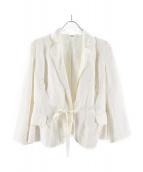 ASPESI(アスペジ)の古着「リネンテーラードジャケット」|ホワイト