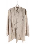 sulvam(サルバム)の古着「ダブルオープンシャツ」|ベージュ