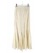 FRAY ID(フレイアイディー)の古着「マーメイドレーススカート」|アイボリー