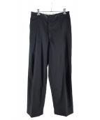 NEON SIGN(ネオンサイン)の古着「ワイドスラックスパンツ」|ブラック