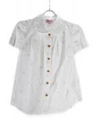 Vivienne Westwood RED LABEL(ヴィヴィアンウエストウッド レッドレーベル)の古着「半袖シャツ」|ホワイト