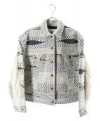 LEVIS MADE&CRAFTED(リーバイス メイドアンドクラフテッド)の古着「トライバルトラッカージャケット」|ホワイト×グレー