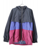 MAISON SPECIAL(メゾンスペシャル)の古着「オーバーサイズ配色フードブルゾン」|ネイビー