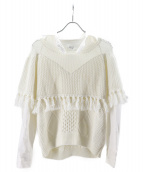 Ameri VINTAGE(アメリビンテージ)の古着「シアードッキングニット」 ホワイト