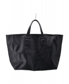 NEIL BARRETT(ニールバレット)の古着「ビッグレザートートバッグ」|ブラック