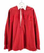 FACETASM(ファセッタズム)の古着「ラガーシャツ」|レッド
