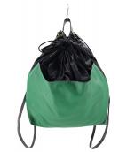 MARNI(マルニ)の古着「バイカラーバックパック」|グリーン×ブラック