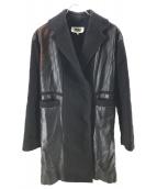MM6(エムエムシックス)の古着「インサイドアウトコート」|ブラック
