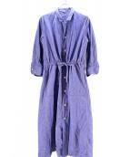 45R(フォーティファイブアール)の古着「オックスフォードのシャツドレス」|ブルー