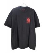 VIOLA&ROSES(ビオラ&ローゼス)の古着「Tシャツ」|ブラック