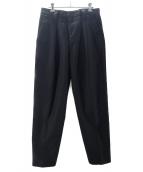 ACNE STUDIOS(アクネステュディオズ)の古着「AYRANタックパンツ」|ブラック