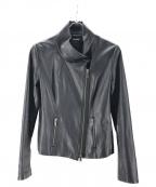 DKNY(ダナキャランニューヨーク)の古着「シープレザーライダースジャケット」 ブラック