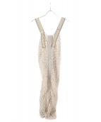 TODAYFUL(トゥデイフル)の古着「メッシュニットドレス」|ベージュ