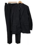 SHIPS × Loro Piana(シップス×ロロピアーナ)の古着「ロロピアーナストライプセットアップスーツ」|ネイビー