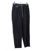 saqui(サキ)の古着「テーパードリボンパンツ」|ブラック