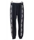FENDI(フェンディ)の古着「サイドロゴジョガーパンツ」|ブラック