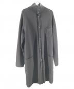 BLACK Scandal YOHJI YAMAMOTO(ブラックスキャンダルヨージヤマモト)の古着「翁インターシャ7Gニットハイネックロングカーディガン」 ブラック