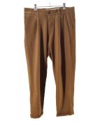 PT01(ピーティーゼロウーノ)の古着「ウールストレッチフラノ1Pテーパードパンツ」|ブラウン
