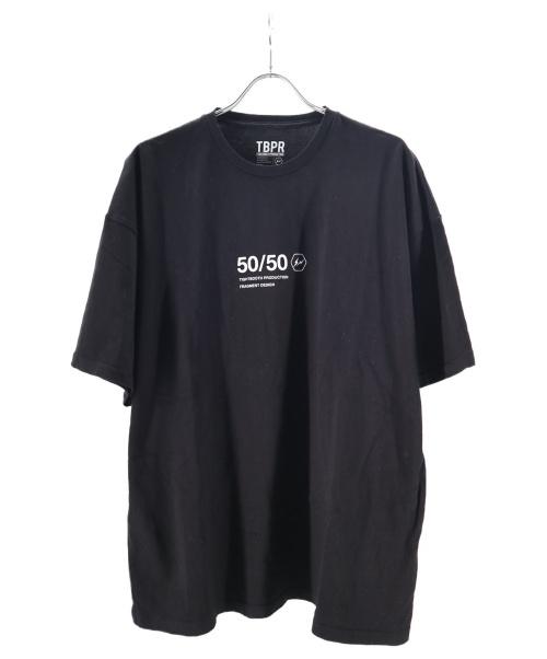 FRAGMENT DESIGN × TIGHTBOOTH PRODUCTION()FRAGMENT DESIGN × TIGHTBOOTH PRODUCTION (フラグメントデザイン×タイトブースプロダクション) 50/50 TEE ブラック サイズ:XLの古着・服飾アイテム