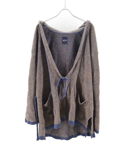 45R(フォーティファイブアール)45R (フォーティファイブアール) リネンカルゼのカムエハッピィ ブラウン サイズ:0の古着・服飾アイテム