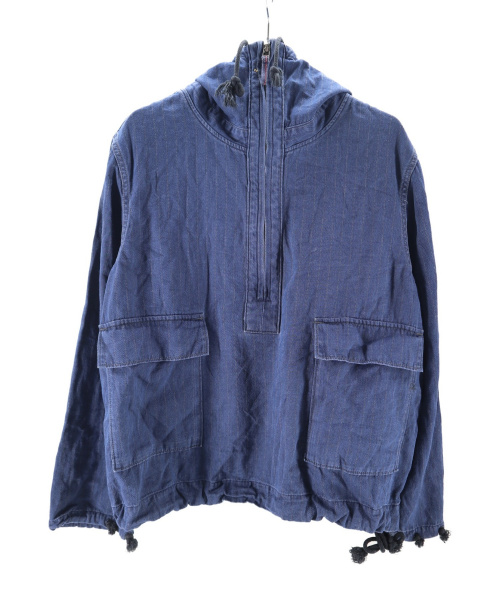 45R(フォーティファイブアール)45R (フォーティファイブアール) 納戸納戸シャツデニムの908パーカー インディゴ サイズ:2の古着・服飾アイテム