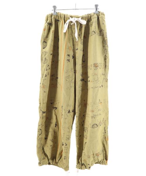 45R(フォーティファイブアール)45R (フォーティファイブアール) カディチノのプリントテントパンツ カーキ サイズ:0の古着・服飾アイテム