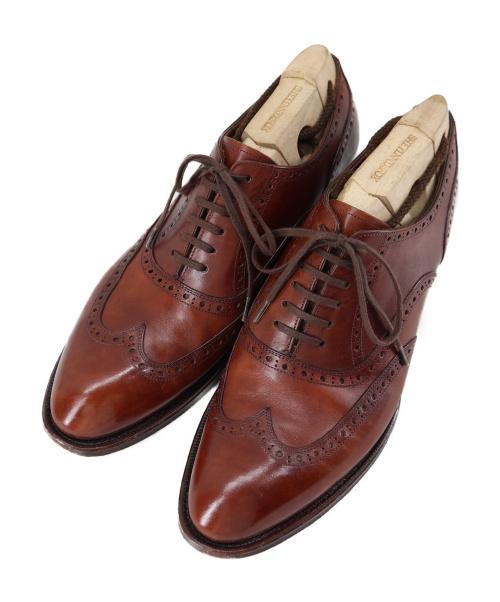 SHETLAND FOX(シェットランドフォックス)SHETLAND FOX (シェットランドフォックス) ウィングチップシューズ ブラウン サイズ:7 012Fの古着・服飾アイテム