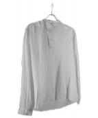 TONSURE(トンシュール)の古着「バンドカラーシャツ」|ホワイト