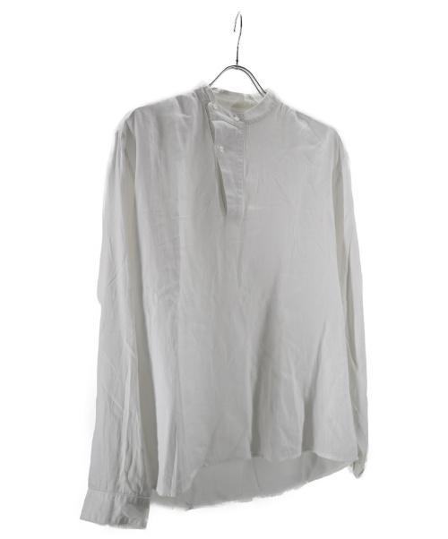TONSURE(トンシュア)TONSURE (トンシュール) バンドカラーシャツ ホワイト サイズ:50の古着・服飾アイテム