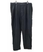nestrobe confect(ネストローブ コンフェクト)の古着「リネンタックパンツ」|ブラック