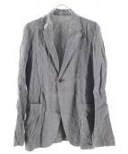 nestrobe confect(ネストローブ コンフェクト)の古着「リネンピンストライプジャケット」|グレー
