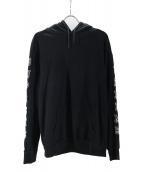 Supreme(シュプリーム)の古着「ロゴアーム刺繍プルオーバーパーカー」|ブラック