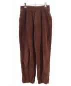 6(ROKU) BEAUTY&YOUTH(ロク)の古着「コーデュロイワイドパンツ」|ブラウン
