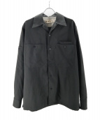 MARNI(マルニ)の古着「トロピカルウールオーバーシャツ」|ブラック