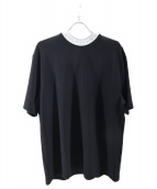 ACNE STUDIOS(アクネステュディオズ)の古着「ネックロゴリブTシャツ」|ブラック