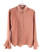 iNtimite(アンティミテ)の古着「フリルカフスシャツ」 ブラウン