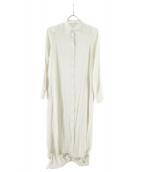 iNtimite(アンティミテ)の古着「ジャガードAラインワンピース」 ホワイト