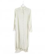 INTIMITE(アンティミテ)の古着「ジャガードAラインワンピース」|ホワイト