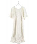 iNtimite(アンティミテ)の古着「フラワーエンブロイダリーワンピース」 ホワイト