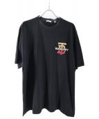 BURBERRY(バーバリー)の古着「モノグラムモチーフコットンオーバーサイズTシャツ」|ブラック